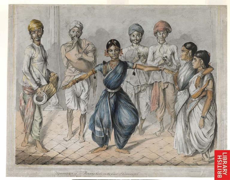Dancing girls and musicians from Madras